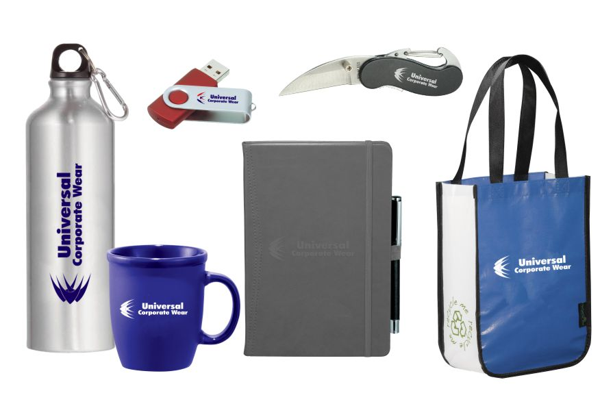 Examples of Promotional Products Provided by Universal Corporate Wear