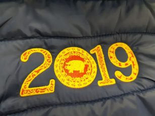 2019 Year of the pig embroidery