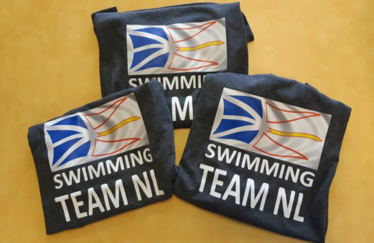 T-shirts for a swimming team.