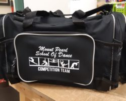 Duffel bag for Mount Pearl School of Dance