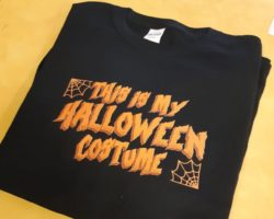 Custom designed Halloween t-shirt.